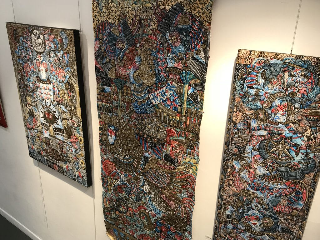 Vue du salon Outsider Art Fair 2018, à l'Atelier Richelieu (19)