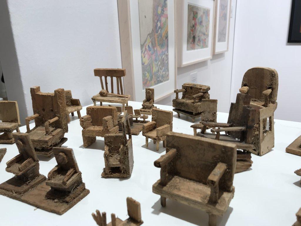 Vue du salon Outsider Art Fair 2018, à l'Atelier Richelieu (2)