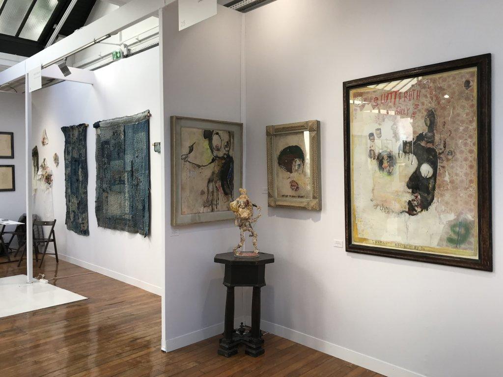 Vue du salon Outsider Art Fair 2018, à l'Atelier Richelieu (29)