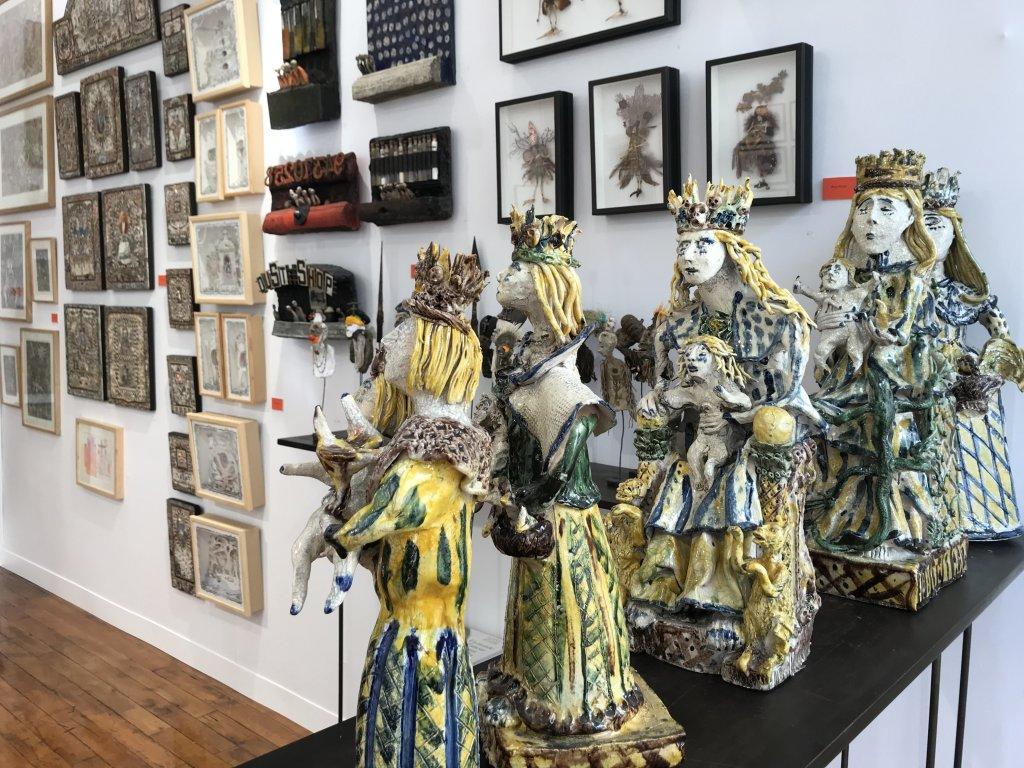 Vue du salon Outsider Art Fair 2018, à l'Atelier Richelieu (39)