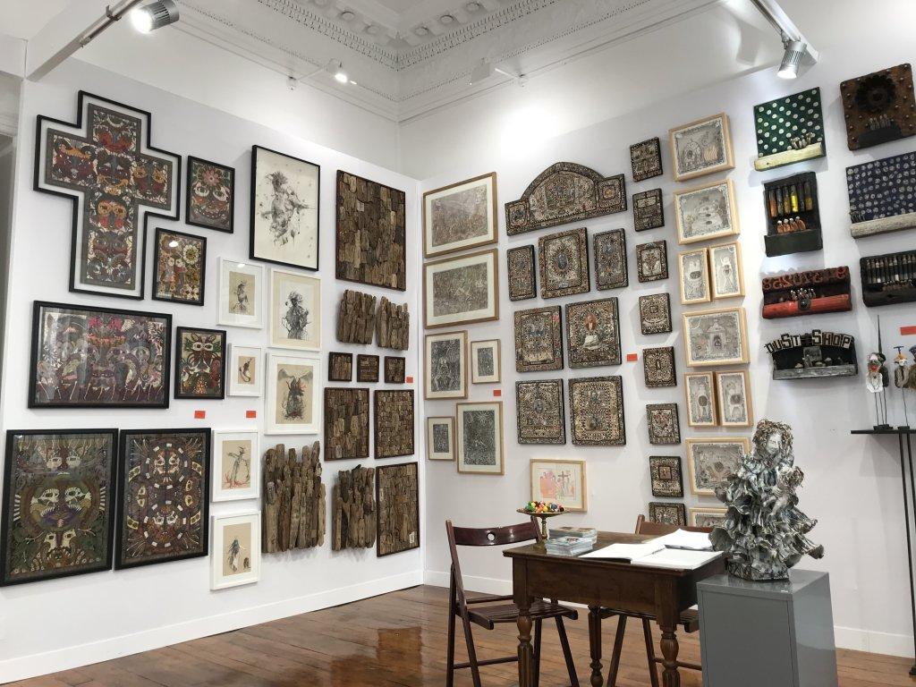 Vue du salon Outsider Art Fair 2018, à l'Atelier Richelieu (42)