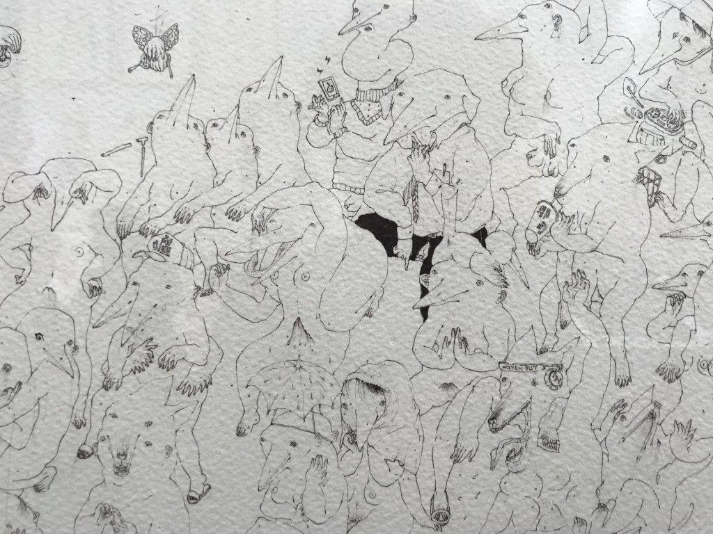 Vue du salon Outsider Art Fair 2018, à l'Atelier Richelieu (68)