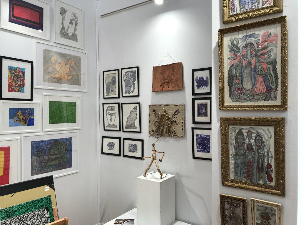 Vue du salon Outsider Art Fair 2018, à l'Atelier Richelieu (71)