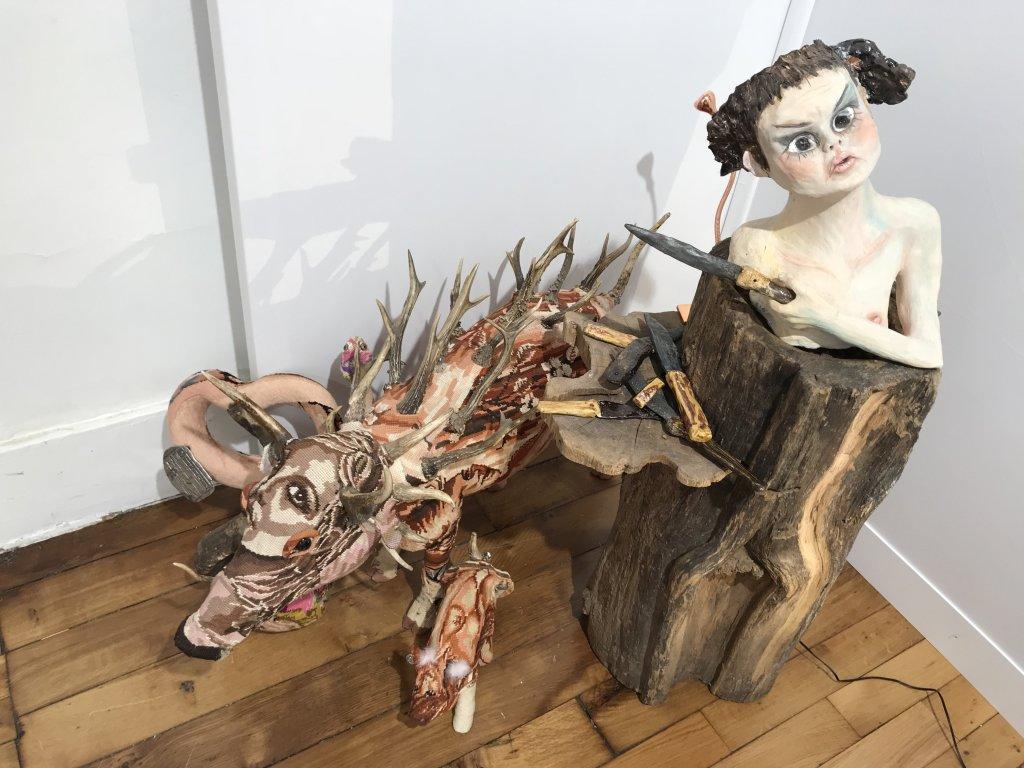 Vue du salon Outsider Art Fair 2018, à l'Atelier Richelieu (74)