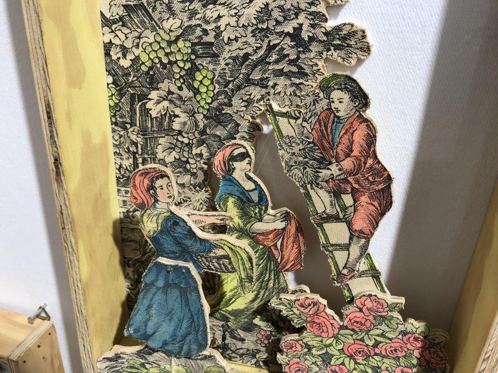 Vue du salon Outsider Art Fair 2018, à l'Atelier Richelieu (77)