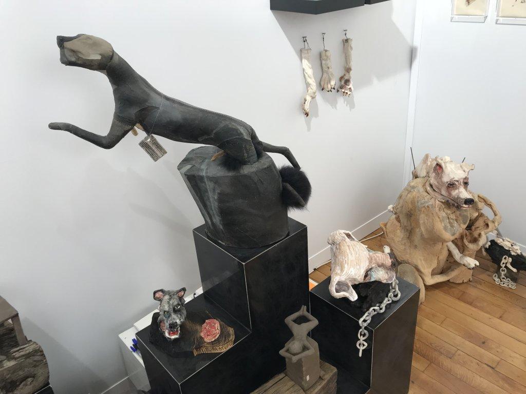 Vue du salon Outsider Art Fair 2018, à l'Atelier Richelieu (79)