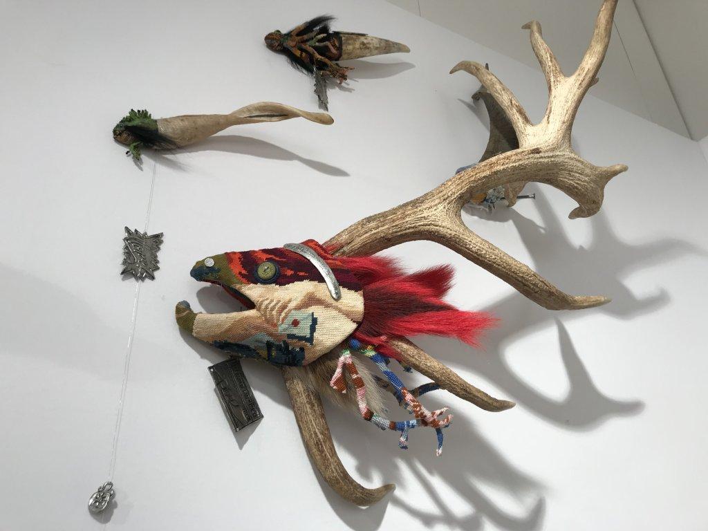 Vue du salon Outsider Art Fair 2018, à l'Atelier Richelieu (80)