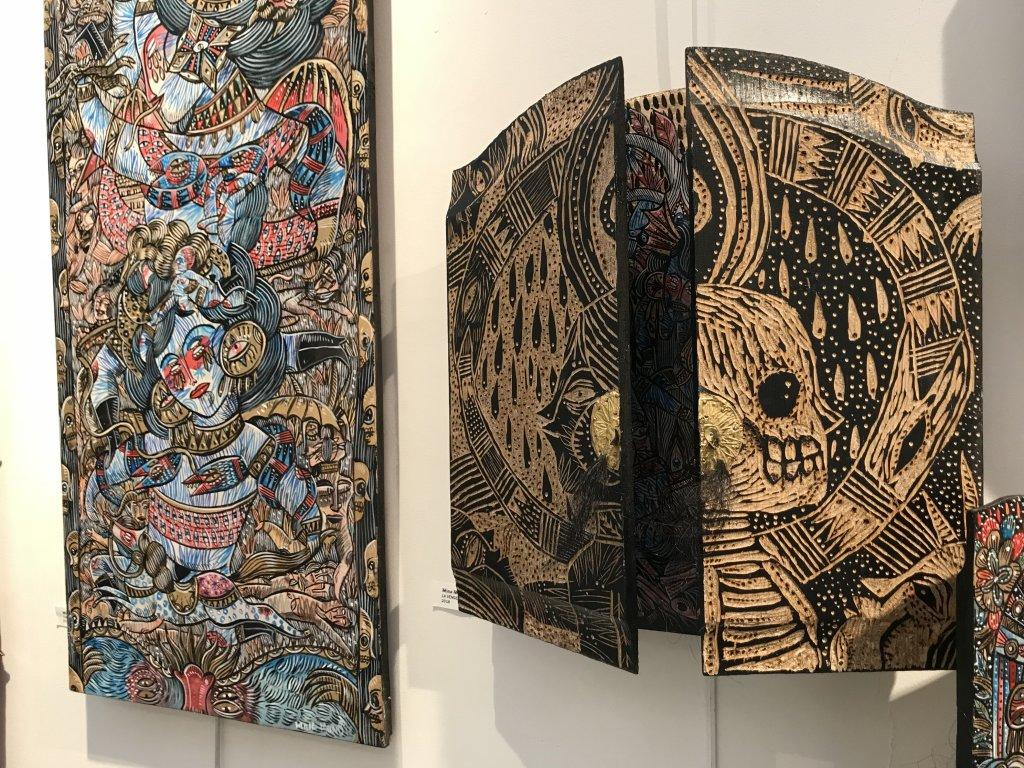 Vue du salon Outsider Art Fair 2018, à l'Atelier Richelieu (89)