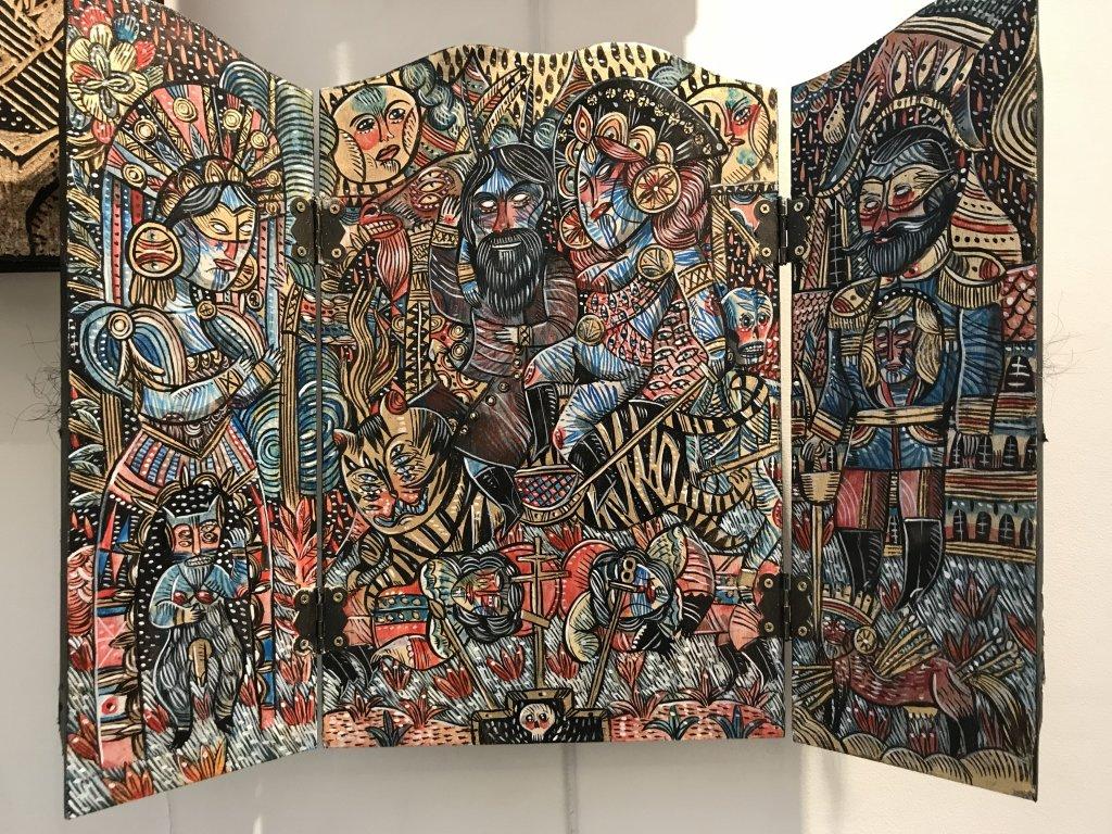 Vue du salon Outsider Art Fair 2018, à l'Atelier Richelieu (90)