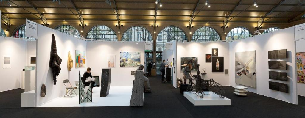Vue du YIA ART FAIR 2017 (Le Carreau du Temple). Vues d'exposition Éditions passées (1)