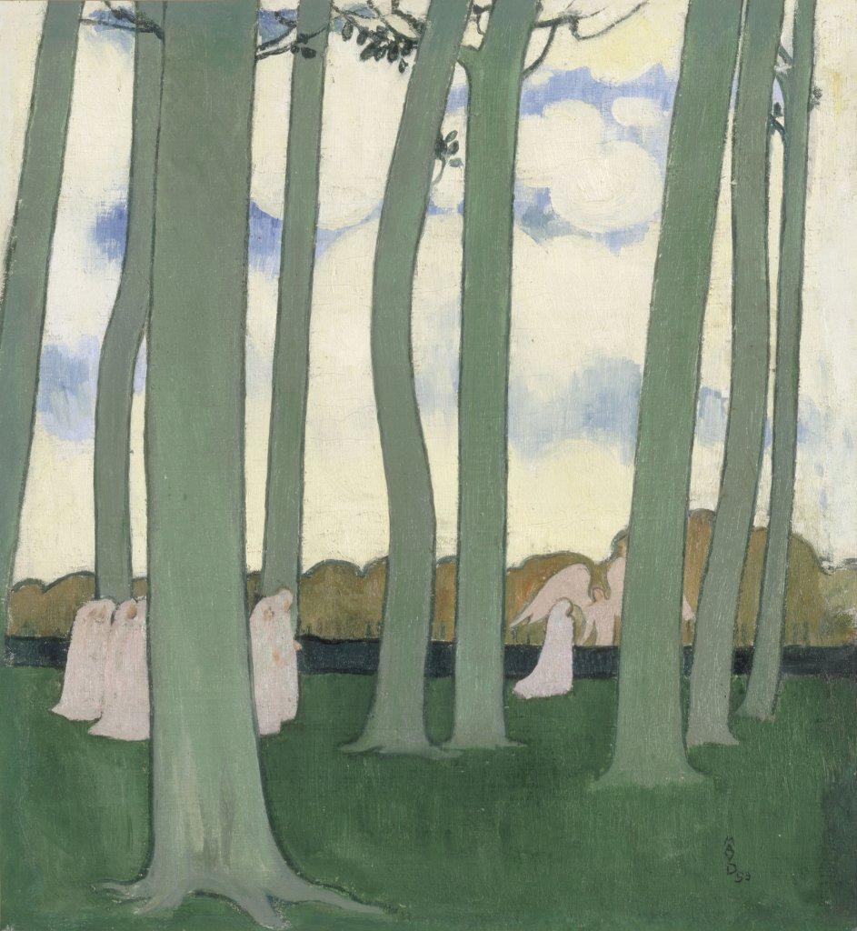 Maurice Denis, Les Hêtres de Kerduelou Les Arbres verts, 1893