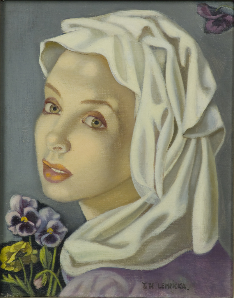 Tamara de Lempicka, Chica joven con Pensamientos, 1945