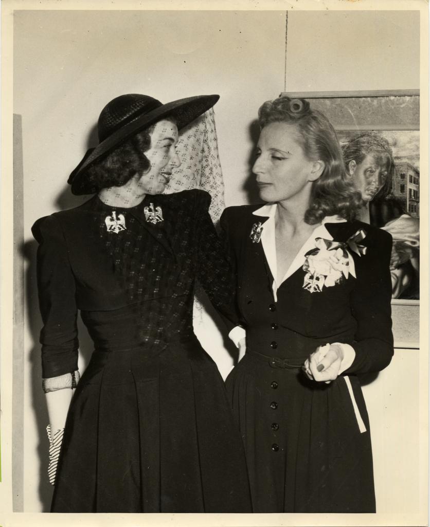 Tamara and Mrs Otto Preminger, 1941