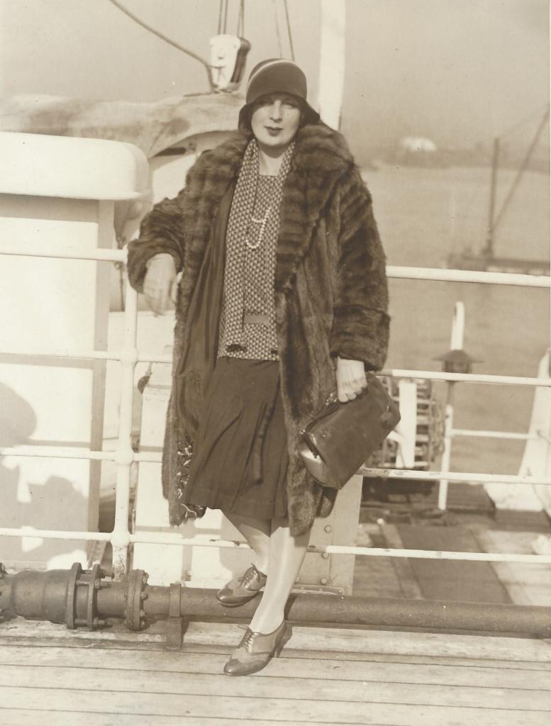 Tamara bordo del S.S.Paris, 1929