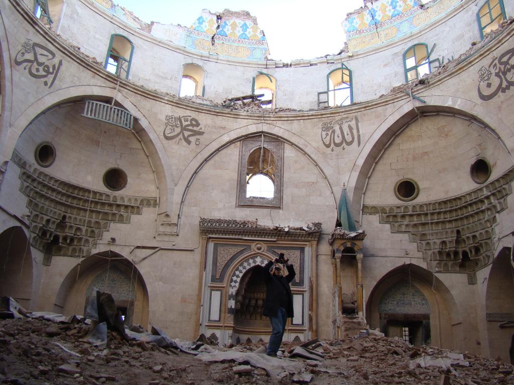 Mosquée détruite à Alep, Syrie