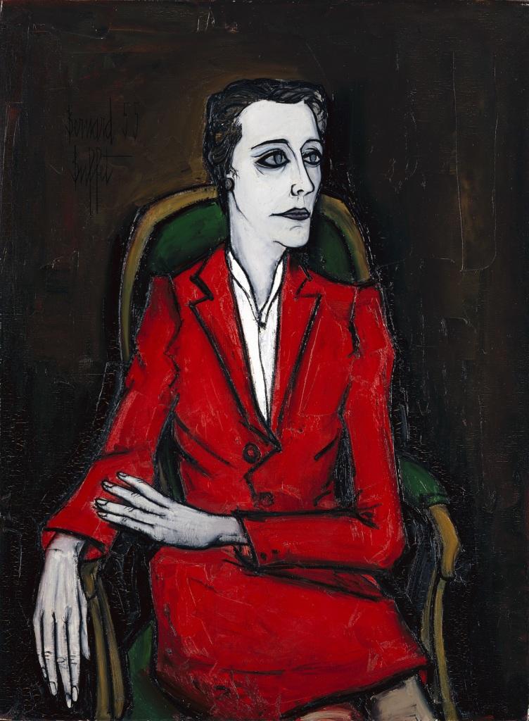 Bernard Buffet, Portrait de Jacqueline Delubac, 1955