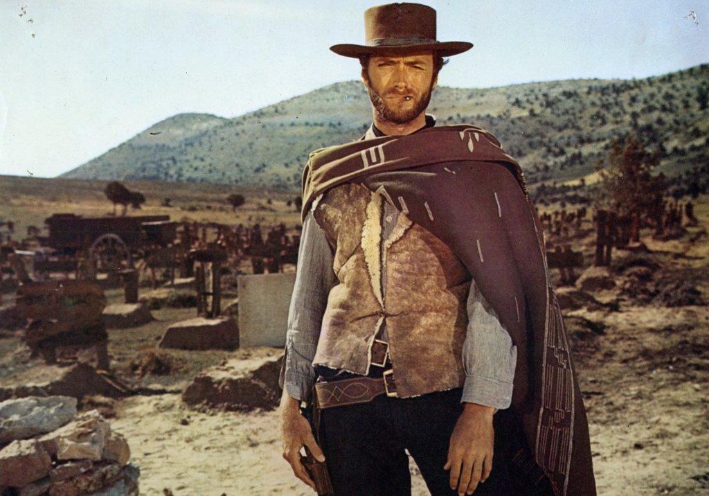 Clint Eastwood dans Le Bon, la Brute et le Truandde Sergio Leone, 1966