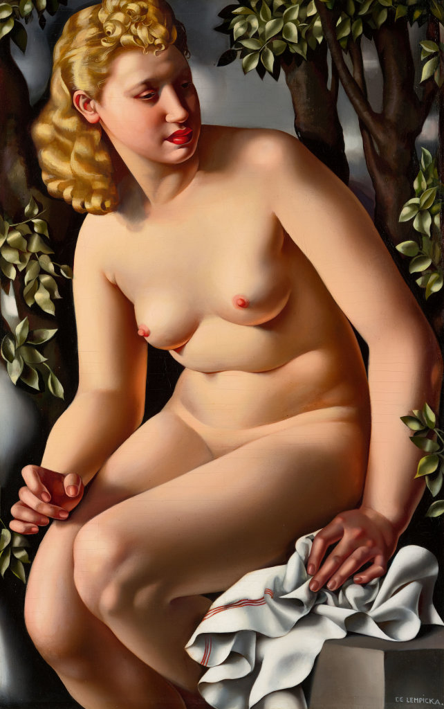 Tamara de Lempicka, Susana en el baño, 1938