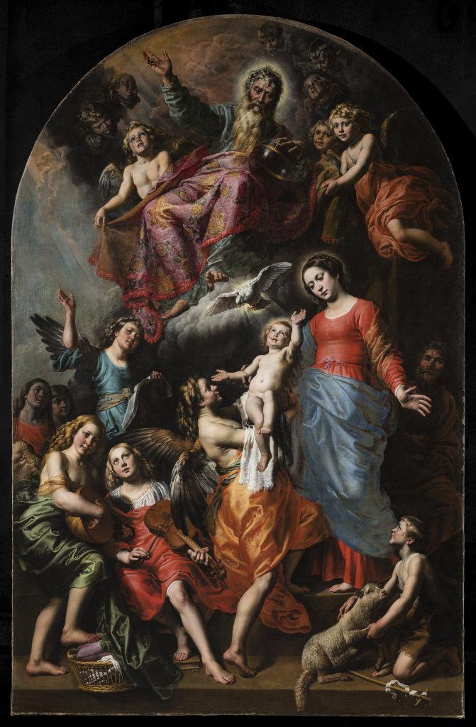 Théodore van Loon, La Sainte Trinité avec la Vierge, saint Jean-Baptiste et les anges, Fabrique d'église Saint-Jean-Baptiste au Béguinage, Bruxelles