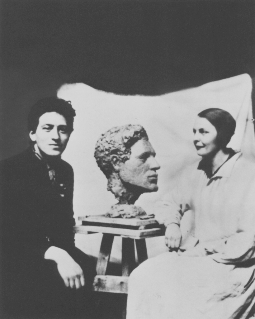 Alberto Giacometti posant pour Flora Mayo vers 1927