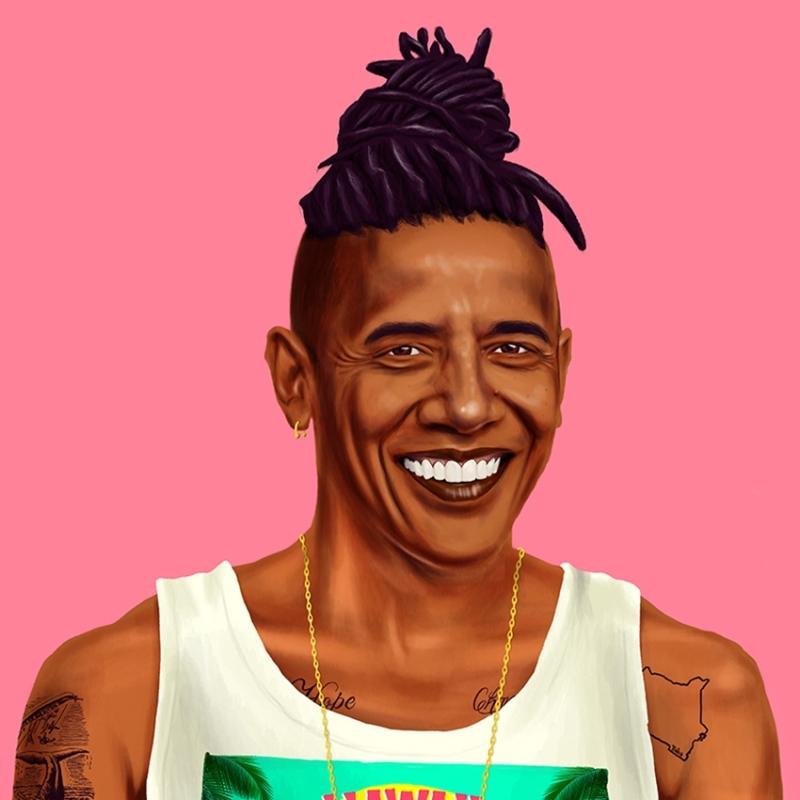 Amit Shimoni, (c) Hipstory, Barack Obama, © HIPSTORY @hipstory_shimoni