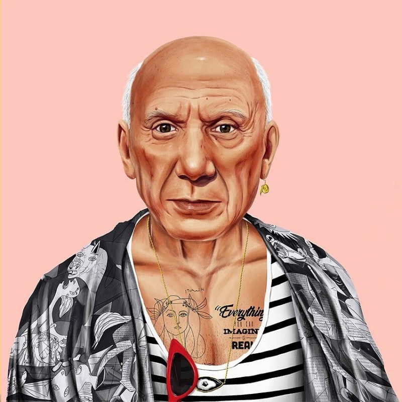 Amit Shimoni, Picasso (2018). © HIPSTORY @hipstory_shimoni