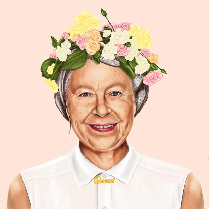 Amit Shimoni, Queen Elizabeth. © HIPSTORY @hipstory_shimoni