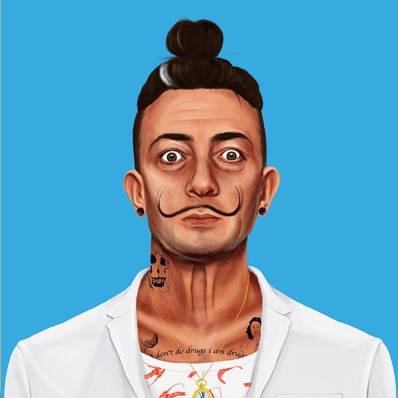 Amit Shimoni, Salvador Dalí (2018). © HIPSTORY @hipstory_shimoni