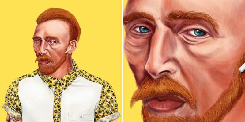 Amit Shimoni, Vincent van Gogh (2018). © HIPSTORY @hipstory_shimoni
