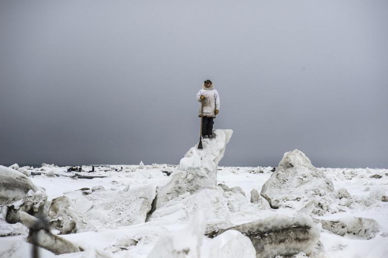 Kadir van Lohuizen / NOOR Arctic, Alaska, Point Hope, whale hunting, May 2018