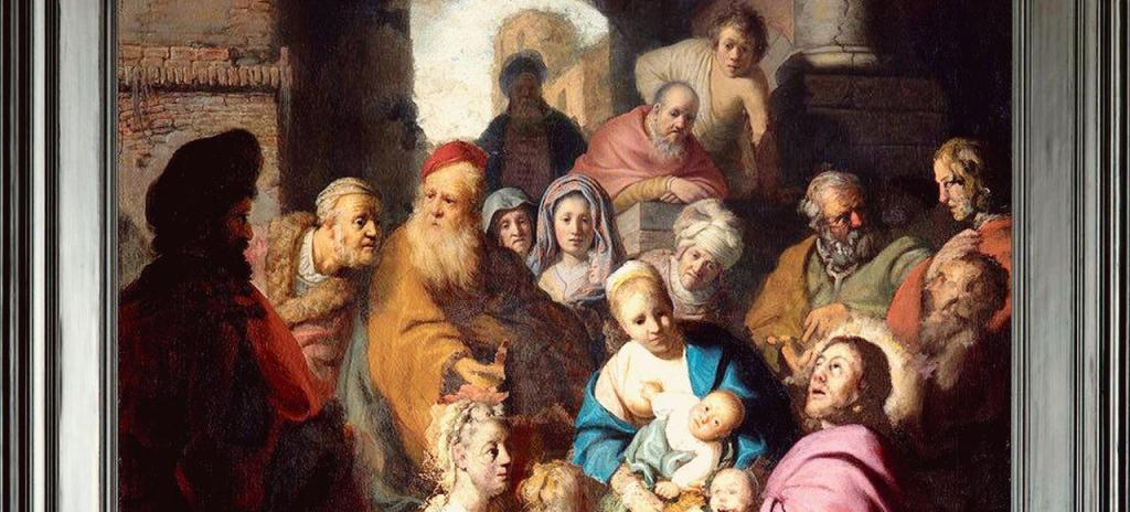 """Détail du """"Christ aux enfants"""" (c) Rembrandt Harmenszoon van Rijn"""