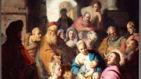 Détail du Christ aux enfants, présenté comme d'«un anonyme de l'école des Pays-Bas», (c) Rembrandt Harmenszoon van Rijn