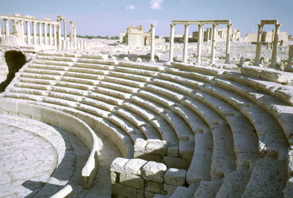 Gradins du théâtre, Palmyre, Syrie