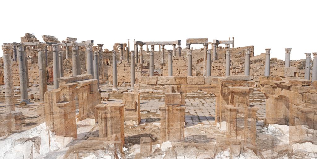 Image 3D du théâtre de Leptis Magna, Libye