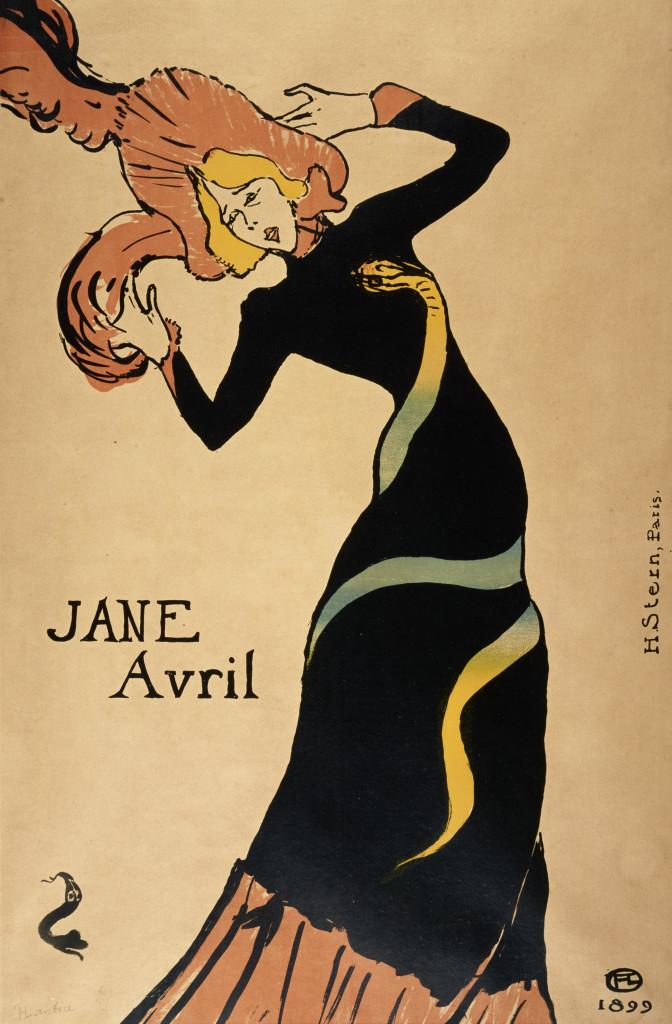 Henri de Toulouse-Lautrec, Jane Avril, 1899