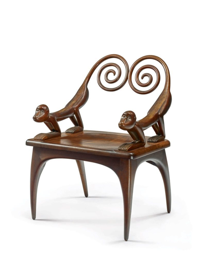 "Judy Kensley McKie, ""Monkey"" armchair. Photo courtesy of Sotheby's"