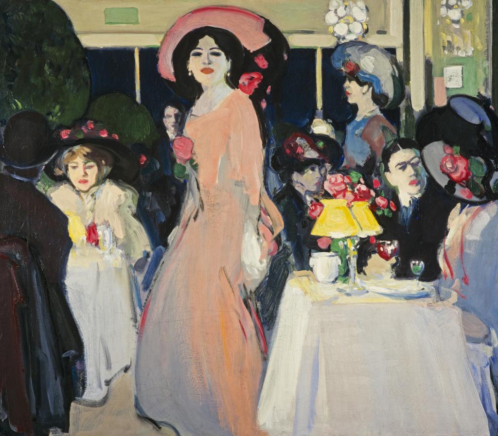 John Duncan Fergusson, La Terrasse, Café d'Harcourt, 1908-09
