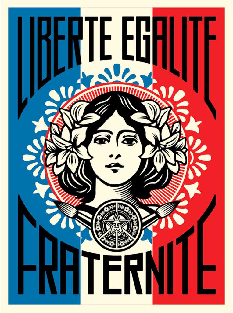 Liberté égalité fraternité, (c) Shepard Fairey, tous droits réservés