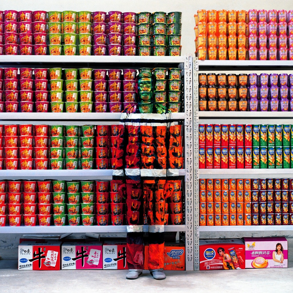 Liu Bolin, Hiding in the City 83, Supermarket I, 2009 - Exposition, Liu Bilin, Ghost Stories a la Maison Europenne de la Photographie