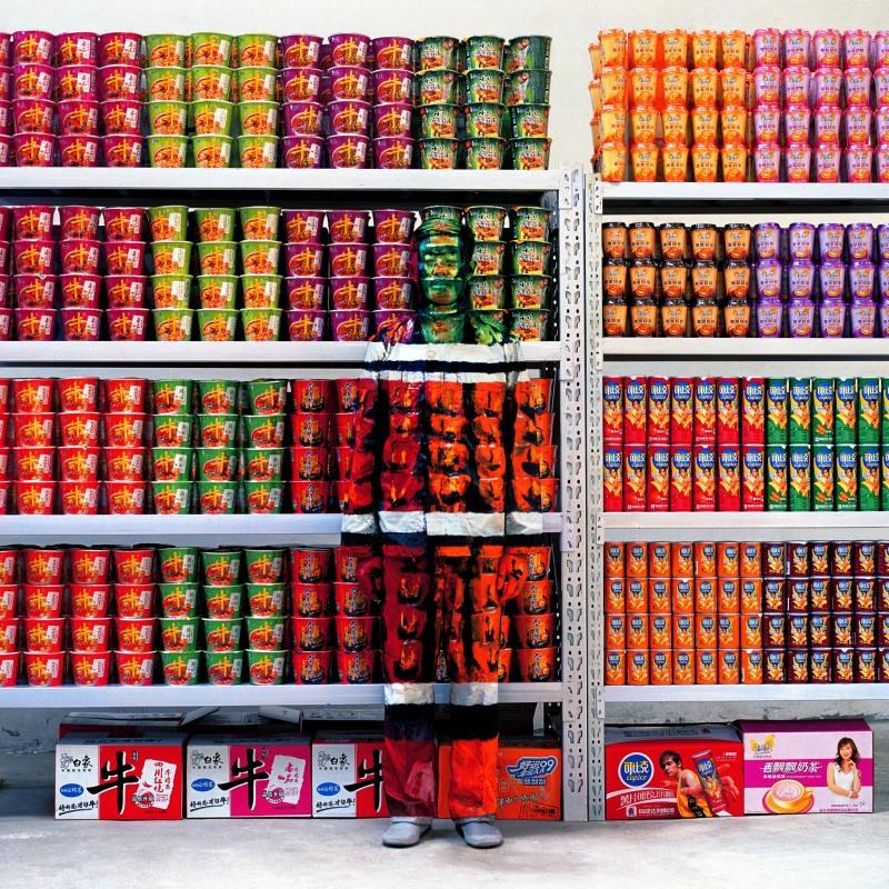 Liu Bolin, Hiding in the City 83, Supermarket I, 2009 - Exposition, Liu Bilin, Ghost Stories a la Maison Europenne de la Photographie