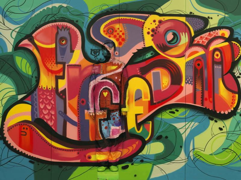 Liu Bolin, Hiding in the City -Paris 11. Freedom Graffiti, 2013 - Exposition, Liu Bilin, Ghost Stories a la Maison Europenne de la Photographie