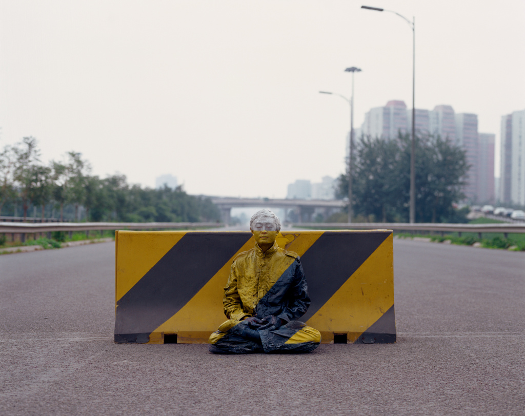 Liu Bolin, Hiding in the City 51, Road Block