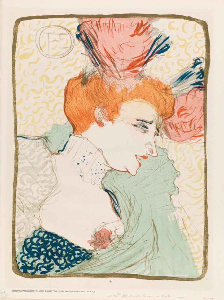 Henri de Toulouse-Lautrec. Mlle Marcelle Lender en buste, 1895