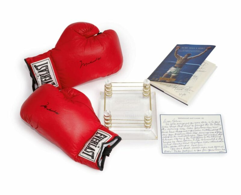 Muhammad Ali's signed boxing gloves, Photo courtesy of Sotheby's