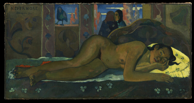 Paul GauguinNevermore, 1897Huile sur toile60,5 cm x 116 cmThe Courtauld Gallery (The Samuel Courtauld Trust),LondonCOPYRIGHT : The Samuel Courtauld Trust, The Courtauld Gallery, London / Object id P.1932.SC.163. NP207.