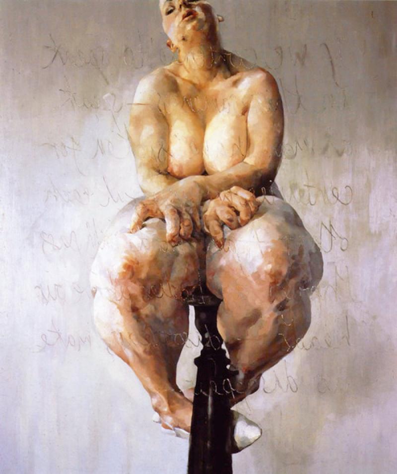 Propped, (c) Jenny Saville, 1992, tous droits réservés