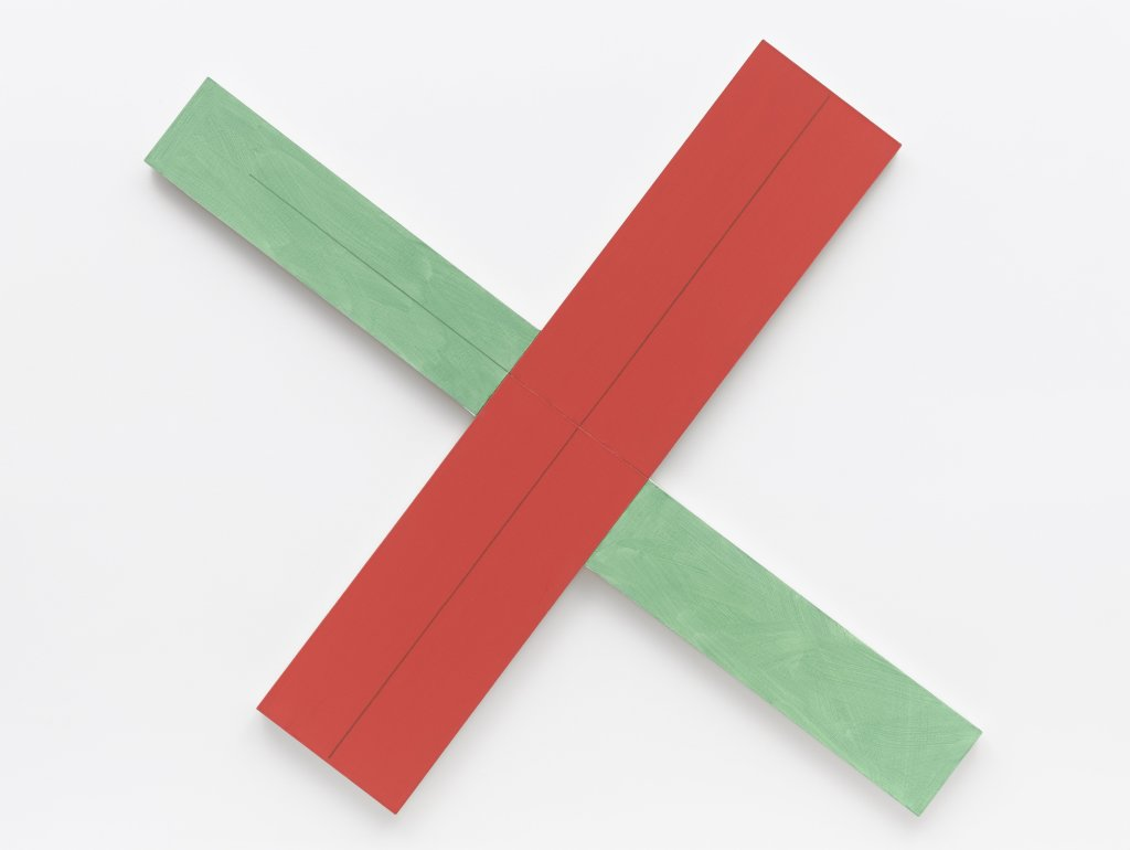Robert Mangold, Red/green X within X #2, 1982