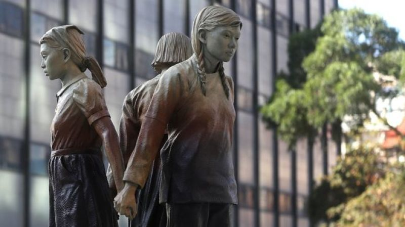 Statue, Comfort women, San Francisco, 2017, tous droits réservés, Getty Images
