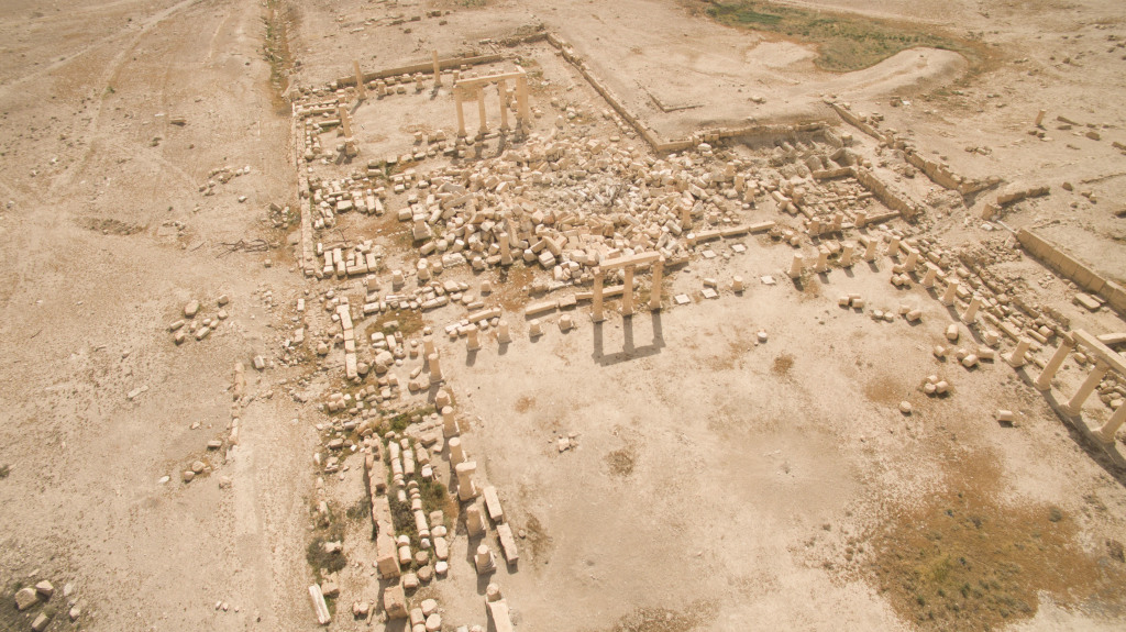 Temple de Baalshamîn après destruction par Daech, Palmyre, Syrie