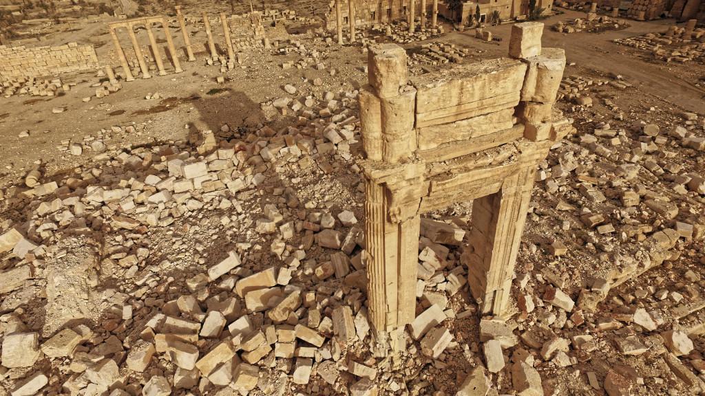 Temple de Bêl après destruction par Daech, Palmyre, Syrie